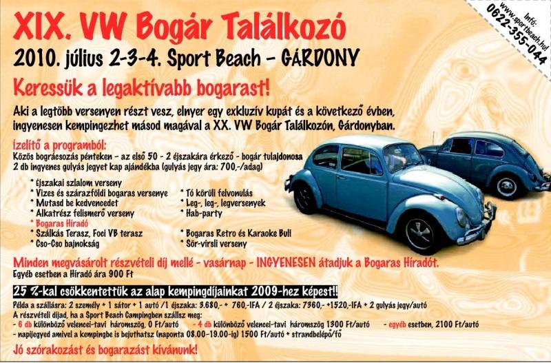 XIX. VW Bogár Találkozó - 2010. július 2-4.