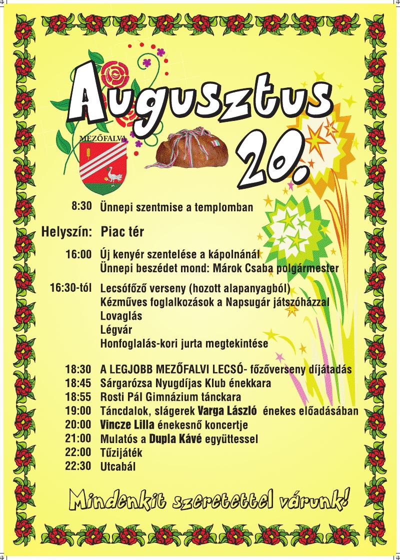 Lecsó Fesztivál Mezőfalván - 2010. augusztus 20.