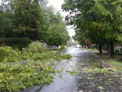 Hatalmas vihar volt a megyében - videó