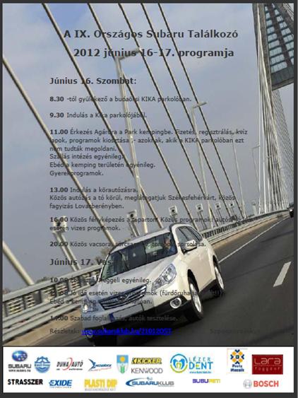 IX. Országos Subaru Találkozó Agárdon